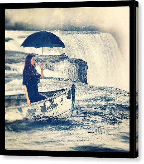 Women Canvas Print - Visiting Niagara by Jill Battaglia