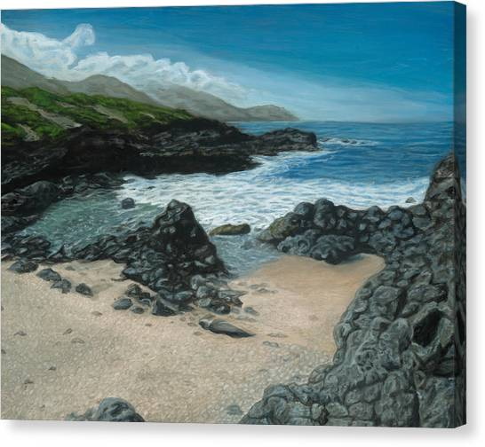 Visitor At Kaena Point Canvas Print