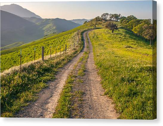 Contra Canvas Print - Vista Grande Trail And Mt Diablo by Marc Crumpler