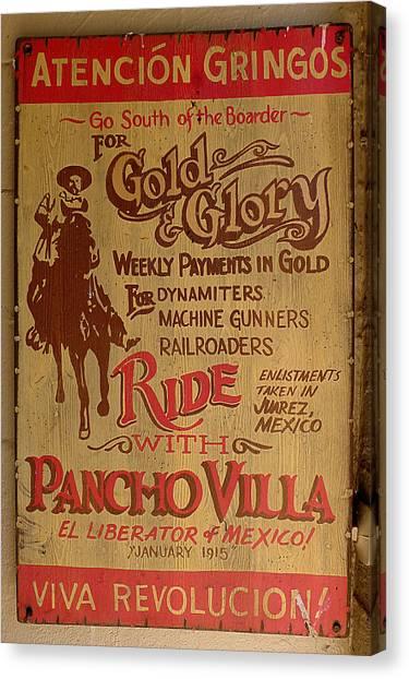 Viva Revolucion - Pancho Villa Canvas Print