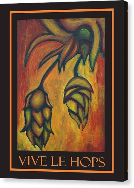 Vive Le Hops In Black Canvas Print by Alexandra Ortiz de Fargher