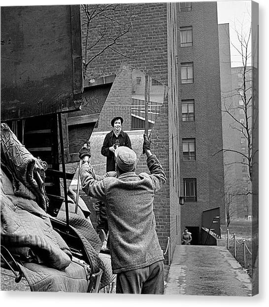 Vivian Maier Self Portrait Probably Taken In Chicago Illinois 1955 Canvas Print