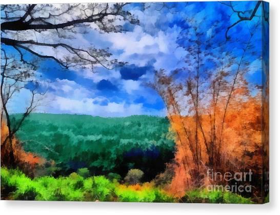 Vivid Landscape Canvas Print by George Paris
