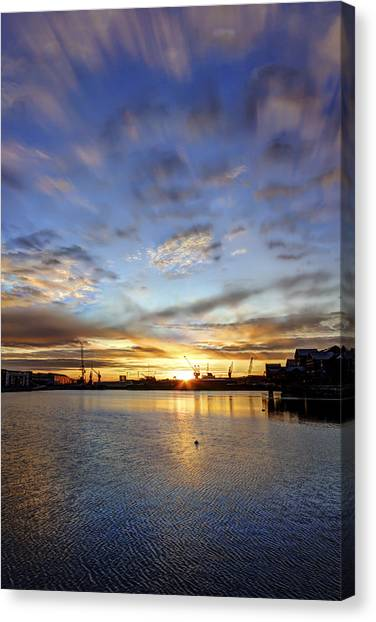 Chatham Canvas Print - Vivid Morning by Nigel Jones