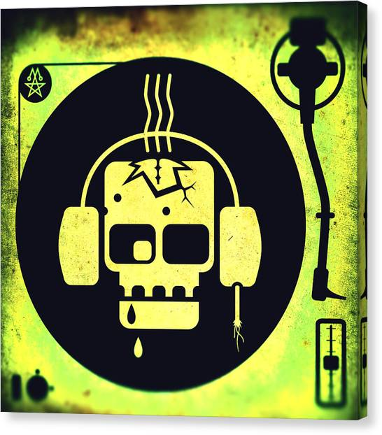 Vivid Zombie Turntable Canvas Print