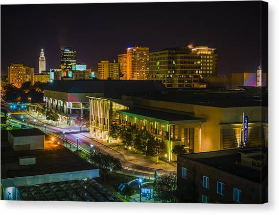 Vividly Downtown Baton Rouge Canvas Print
