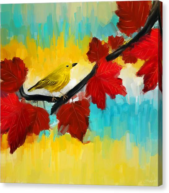 Warblers Canvas Print - Vividness by Lourry Legarde