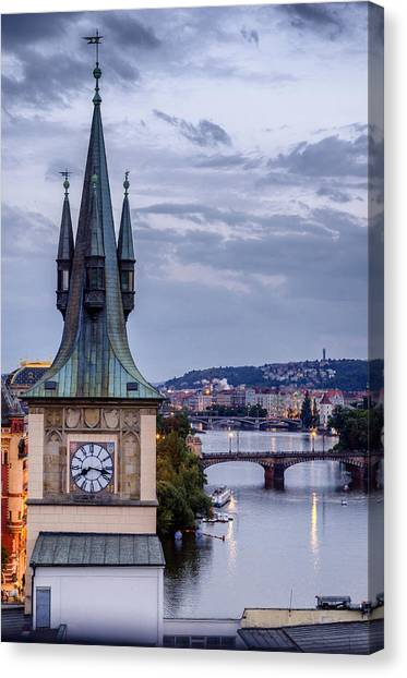 Vltava River In Prague Canvas Print