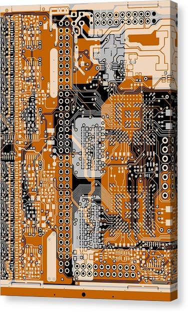 Synthesizers Canvas Print - Vo96 Circuit 1 by Paul Vo