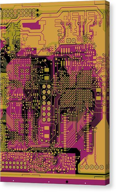 Synthesizers Canvas Print - Vo96 Circuit 8 by Paul Vo