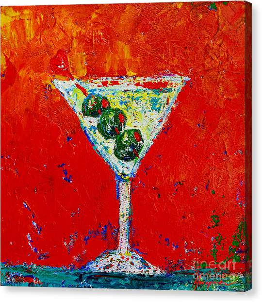 Vodka Martini Shaken Not Stirred - Martini Lovers - Modern Art Canvas Print