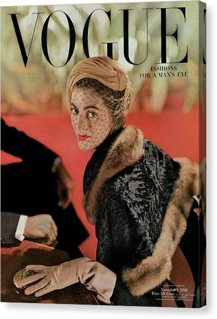 Vogue Cover Featuring Carmen Dell'orefice Canvas Print by John Rawlings