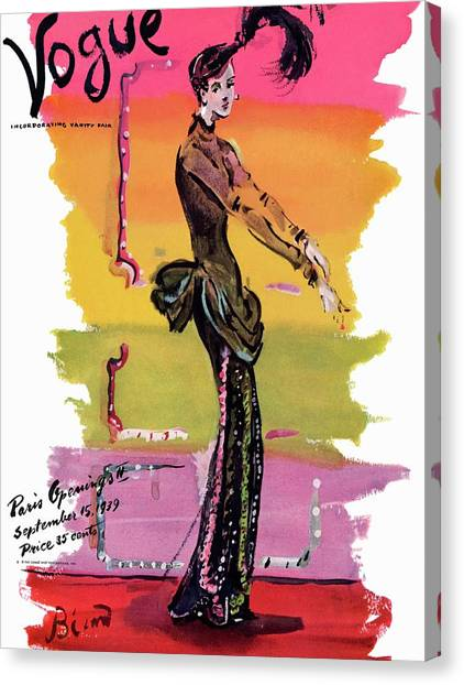 Arms Outstretched Canvas Print - Vogue Cover Illustration by Christian Berard
