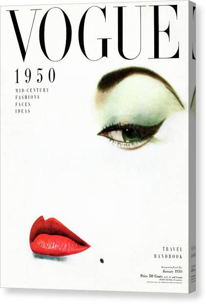 Beauty Mark Canvas Print - Vogue Cover Of Jean Patchett by Erwin Blumenfeld