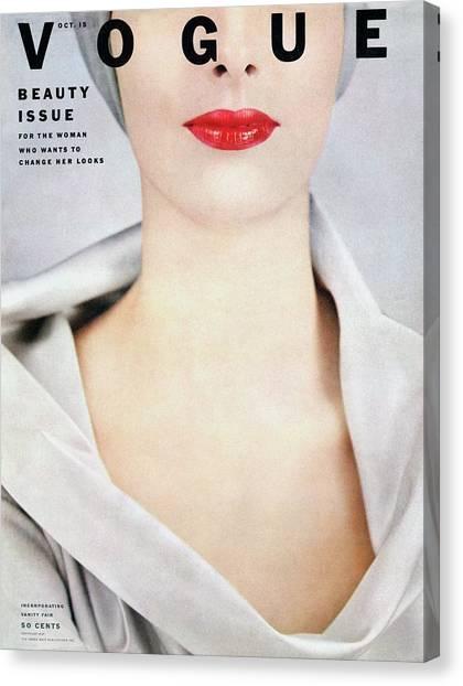 Vogue Cover Of Victoria Von Hagen Canvas Print by Erwin Blumenfeld
