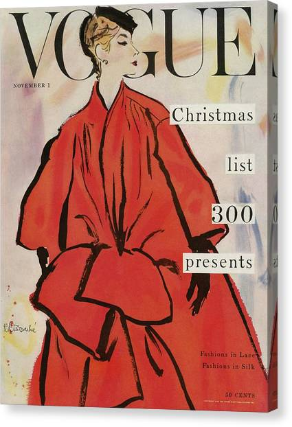 Vogue Magazine Cover Featuring A Woman In A Large Canvas Print