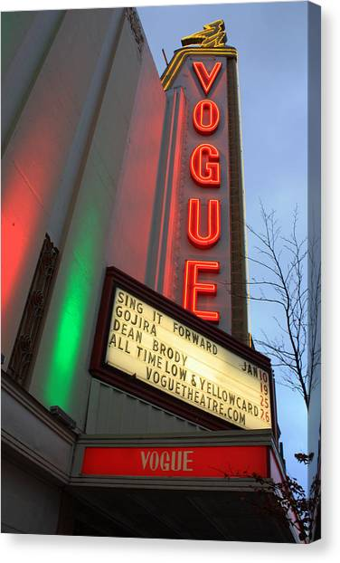 Vogue Theatre Canvas Print