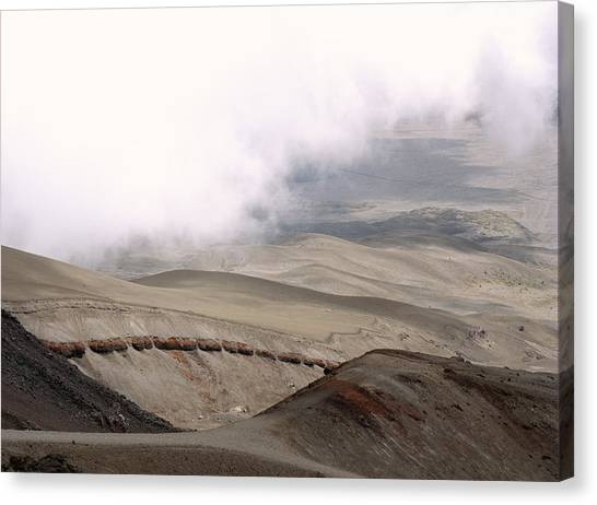 Cotopaxi Canvas Print - Volcanic Deposits by Dr Morley Read/science Photo Library