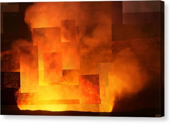 Volcanic Fire - Kilauea Caldera  Canvas Print