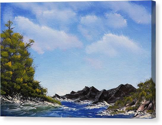 Volcanic Rock Lagoon Canvas Print