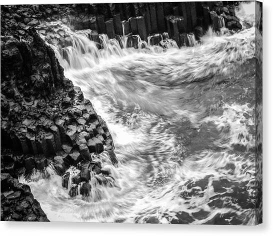 Volcanic Rocks And Water Canvas Print