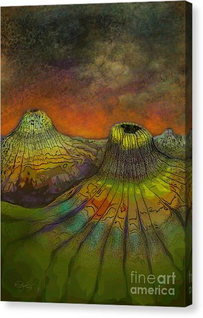 Krakatoa Canvas Print - Volcanic Winter by Carol Jacobs