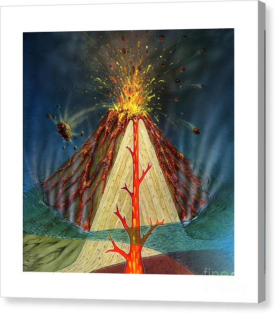 Volcano vent canvas prints page 3 of 6 fine art america volcano vent canvas print volcano diagram by carlyn iverson ccuart Images