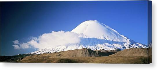 Andes Mountains Canvas Print - Volcano Parinacota, Chile, Are Part by Martin Zwick