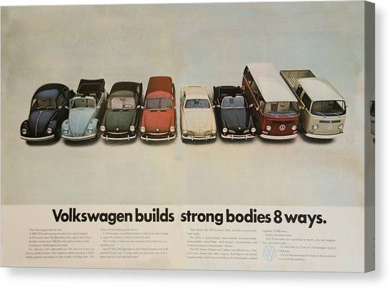 Volkswagen Builds Strong Bodies 8 Ways Canvas Print
