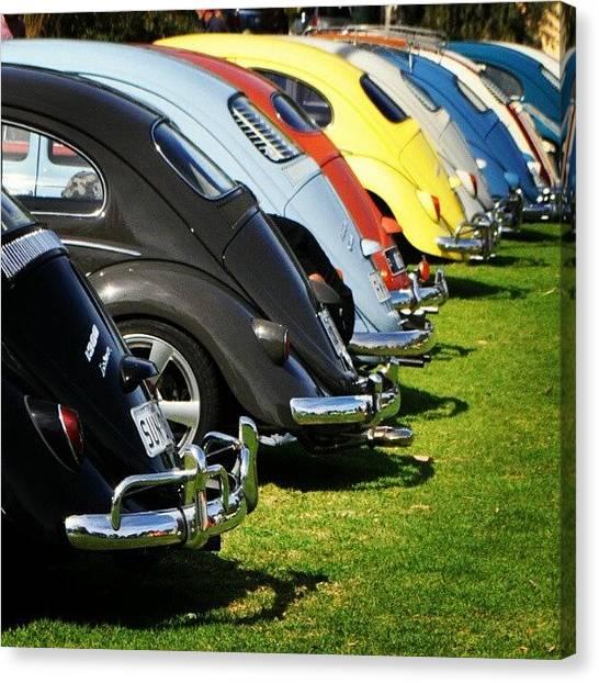 Volkswagen Canvas Print - Volkswagen Line Up by Kirsten Hocking