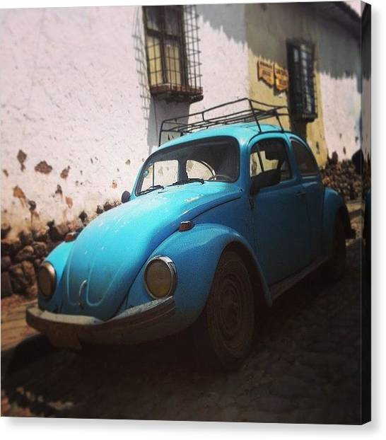 Law Enforcement Canvas Print - #volkswagon #vw #auto #cusco #vintage by Darren O' Dea