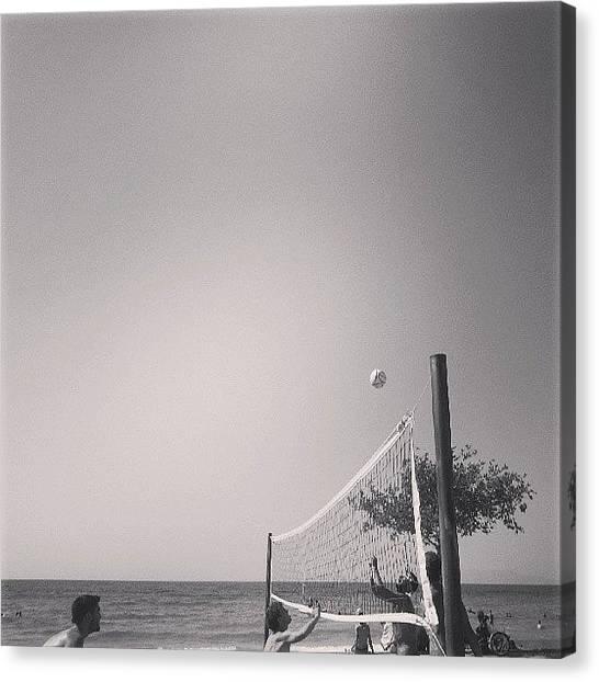 Volleyball Canvas Print - #volleyball #fun #sea #sun #sand by Deniz Ipek