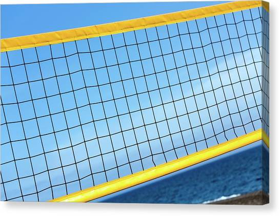 Volleyball Canvas Print - Volleyball Net by Wladimir Bulgar