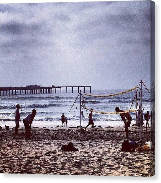 Volleyball Canvas Print - #volleyball #sand #beachvolleyball by CnTell CnTell