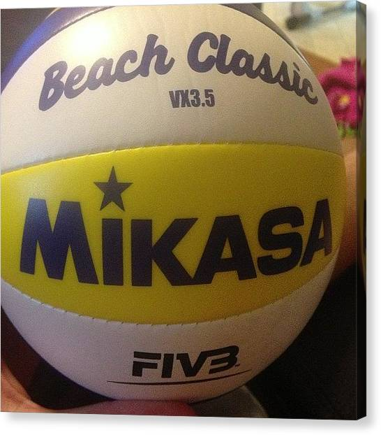 Volleyball Canvas Print - #volleyball #spike #ball #serve #set by Keenan Zimmerman