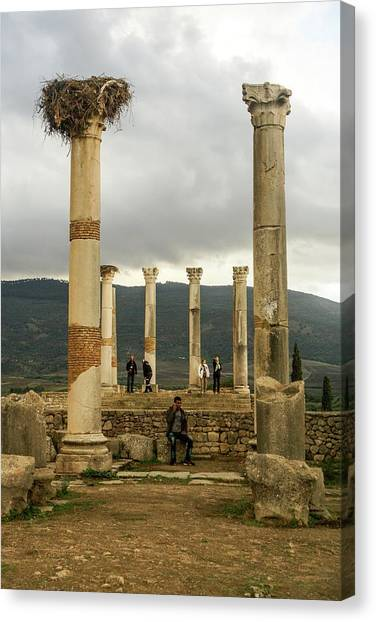 Volubilis Archeological Site Canvas Print by Photostock-israel