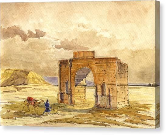 Roman Art Canvas Print - Volubilis Mecknes Ruins by Juan  Bosco