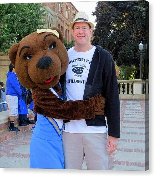 Pac 12 Canvas Print - #volunteering At #ucla #bruins by Jonathan Oskins