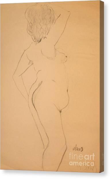 Voluptuous Nude Canvas Print