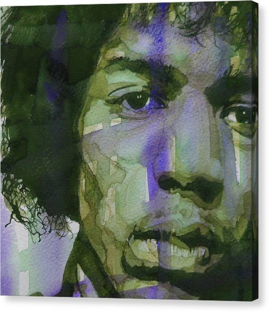 Jimi Hendrix Canvas Print - Voodoo Child by Paul Lovering