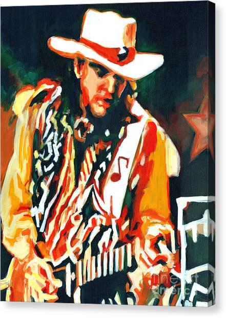 Voodoo Chile - Stevie Ray Vaughn Canvas Print