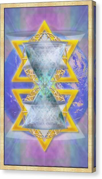 Vortex Chalice Spheres And Star Over Earth Canvas Print