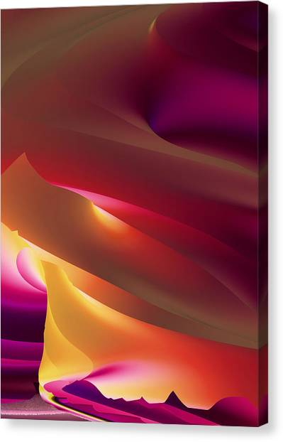 Vortex Of Light Canvas Print