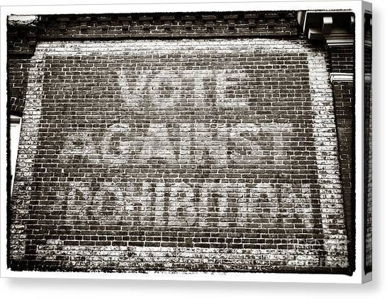 Vote Against Prohibition IIi Canvas Print by John Rizzuto