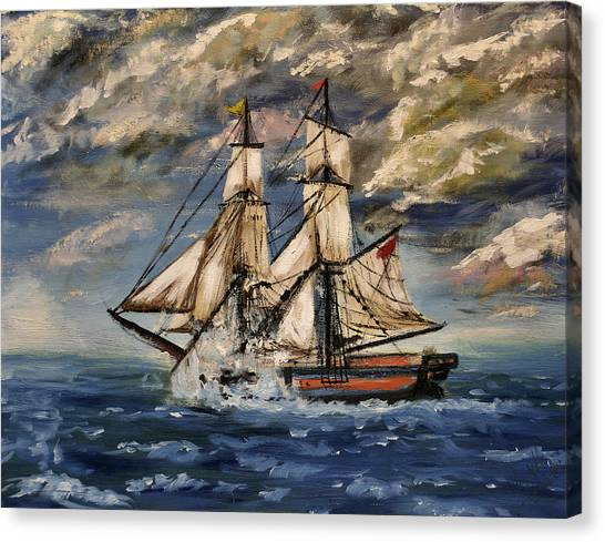 Voyage Of The Cloud Chaser Canvas Print