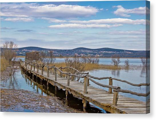 Vransko Lake Nature Park Bird Observatory Canvas Print