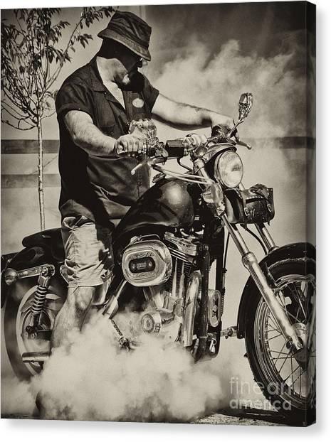 Motorycycles Canvas Print - Vroooooooooommmmm by Wilma  Birdwell