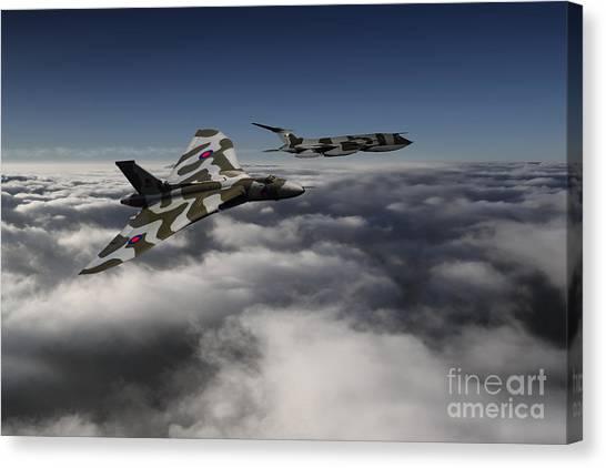 Vulcans Canvas Print - Vulcan And Victor  by J Biggadike