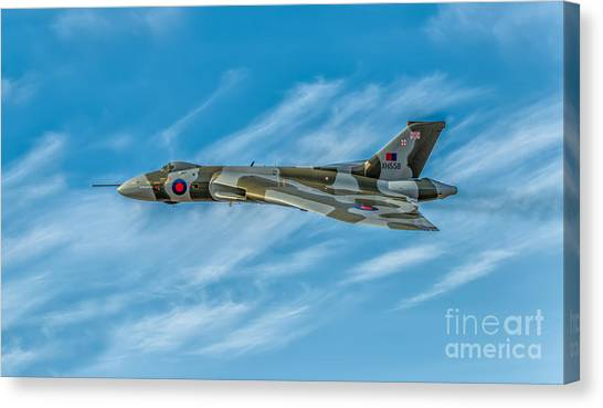 Vulcans Canvas Print - Vulcan Bomber by Adrian Evans