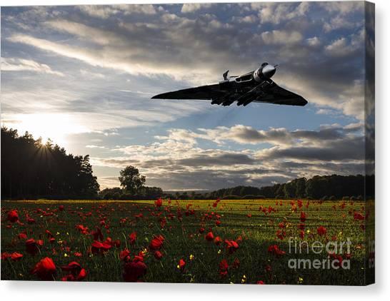 Poppys Canvas Print - Vulcan History by J Biggadike